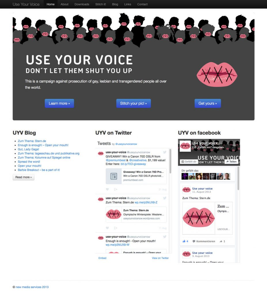 use your voice - Startseite